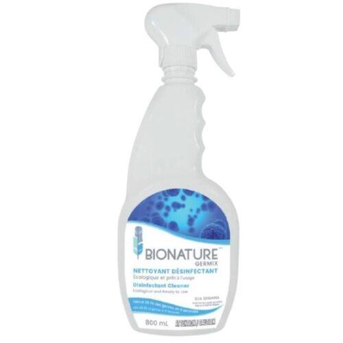 Germix pour une désinfection rapide, facile et efficace, qui tue 99,9 % des germes et bactéries de surface en 5 minutes