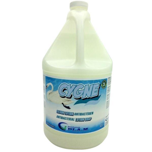 CYGNE Savon antibactérien lotion doux, de couleur blanc perlé 4 Litres