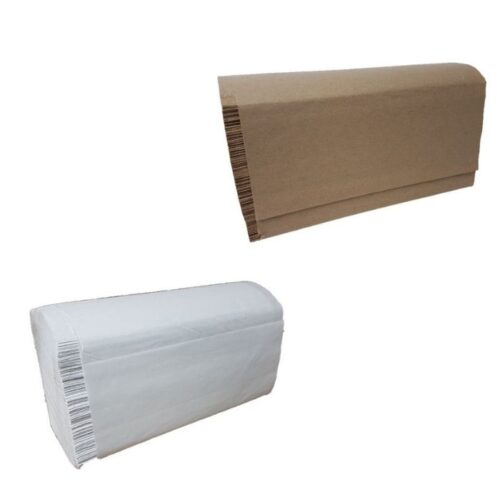 Papier plis multiple 16pqt de 250fls Blanc et brun