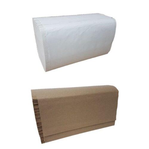 Papier plis simple brun et blanc 16Pqt de 250Fls