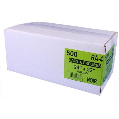 Sac à ordure 24 X 22 noir /500 Sacs (RA-4)