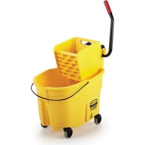 Seau combo Rubbermaid pression latérale 35PTES jaune