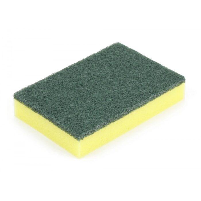 Tampon éponge jaune-vert ou jaune-blanc