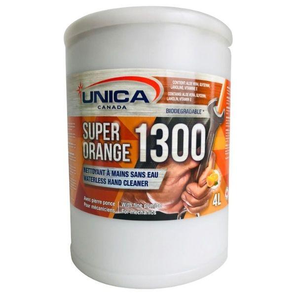 Savon mains sans eau Super orange abrasif avec Pierre Ponce