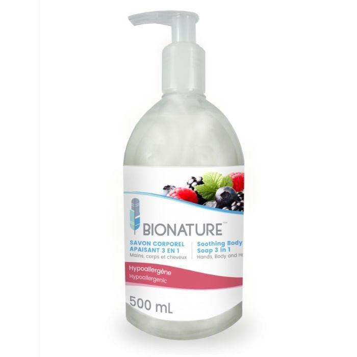 Savon corporel 3 en 1 fruité Bionature BIO 210 et BIO 214